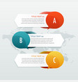 three steps options infographic web banners vector image vector image