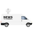 tv news car with equipment on the roof van on vector image vector image