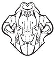 Open Jaw Skull vector image
