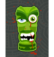 Zombie tiki vector image