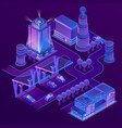 3d isometric city in ultra violet colors vector image vector image