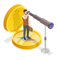 3d isometric flat conceptual vector image vector image