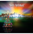 Abstract celebration with panorama of city and vector image vector image