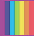 abstract rainbow background cut out paper style vector image vector image