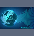 abstract technology background with world globe vector image