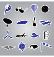 aeronautical icons stickers eps10 vector image vector image