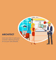architect website banner template vector image vector image