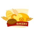 Bakery concept design vector image vector image