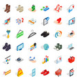 basket icons set isometric style vector image vector image