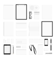 Blank corporate identity elements big set vector image vector image