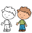 boy 3 4 vector image
