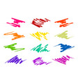 brush strokes in different shapes and colors vector image vector image