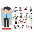 businessman cartoon character design with vector image vector image