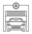 car wash garage icon outline style vector image vector image