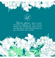 Card template with white lilies vector image vector image