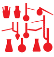 chemistry lab glasses collection vector image vector image