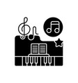classical music black glyph icon vector image