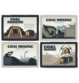Coal Mining Designs Set vector image vector image