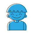 color happy boy with hairstyle and t-shirt vector image