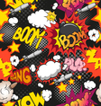 Comic book explosion pattern vector image vector image