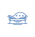 couch line icon concept couch flat symbol vector image vector image
