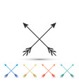 crossed arrows icon isolated on white background vector image