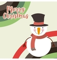 cute snowman christmas character vector image