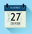 cyber monday 2017 sale calendar vector image