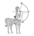 Doodle design of centaur girl for adult coloring b vector image vector image