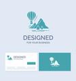 explore travel mountains camping balloons vector image vector image