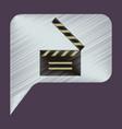 flat icon in shading style film slapstick vector image vector image