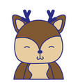 full color adorable and shy deer wild animal vector image vector image