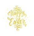Happy easter gold lettering vector image vector image