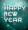 Happy New Year Title - Slogan on Winter Blurred vector image vector image