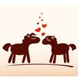 Horses in love vector image vector image