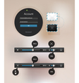 information icon graphic interface for video vector image vector image