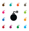 isolated explosive icon bomb element can vector image vector image