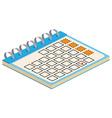 isometric calendar icon for web design vector image