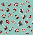 japan flat icons pattern vector image