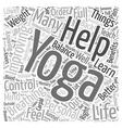 Knowing Yoga will help me in improving my Personal vector image vector image