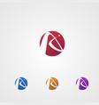 letter a logo in circle logo design concept vector image vector image