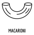 macaroni icon outline style vector image vector image