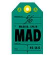 madrid airport luggage tag