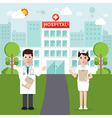 medical and hospital flat design vector image vector image