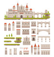 medieval castle constructor kids game palace kit vector image