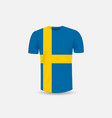 mens t-shirt icon and sweden flag vector image vector image
