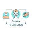 mentoplasty concept icon vector image vector image