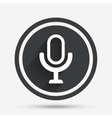 Microphone icon Speaker symbol Live music sign vector image vector image