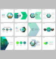 minimal brochure templates with colorful hexagonal vector image vector image