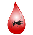mosquito in drop blood vector image